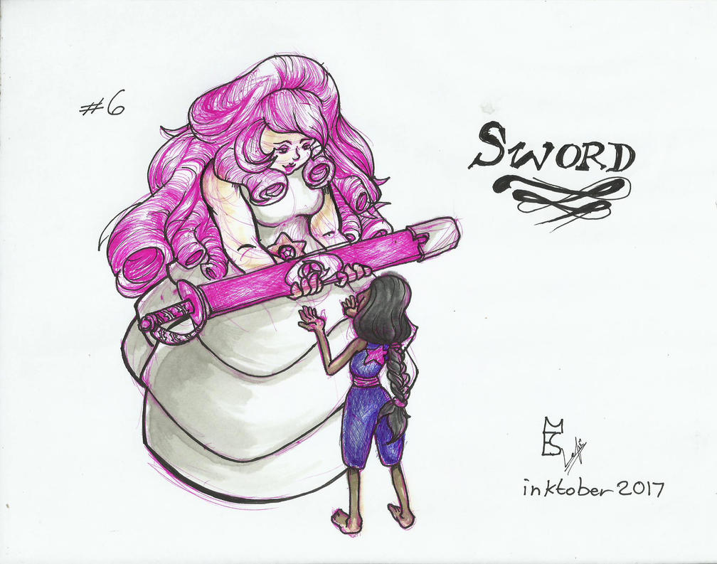 Honestamente, no soy fan de rose quartz, me da muy mala espina <_<U. Pero era su espada y ahora Connie la tiene y quedaba épica la escena. Steven Universe ~ Rebecca Sugar