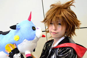 KH Sora with Wonder Meow by amayaren