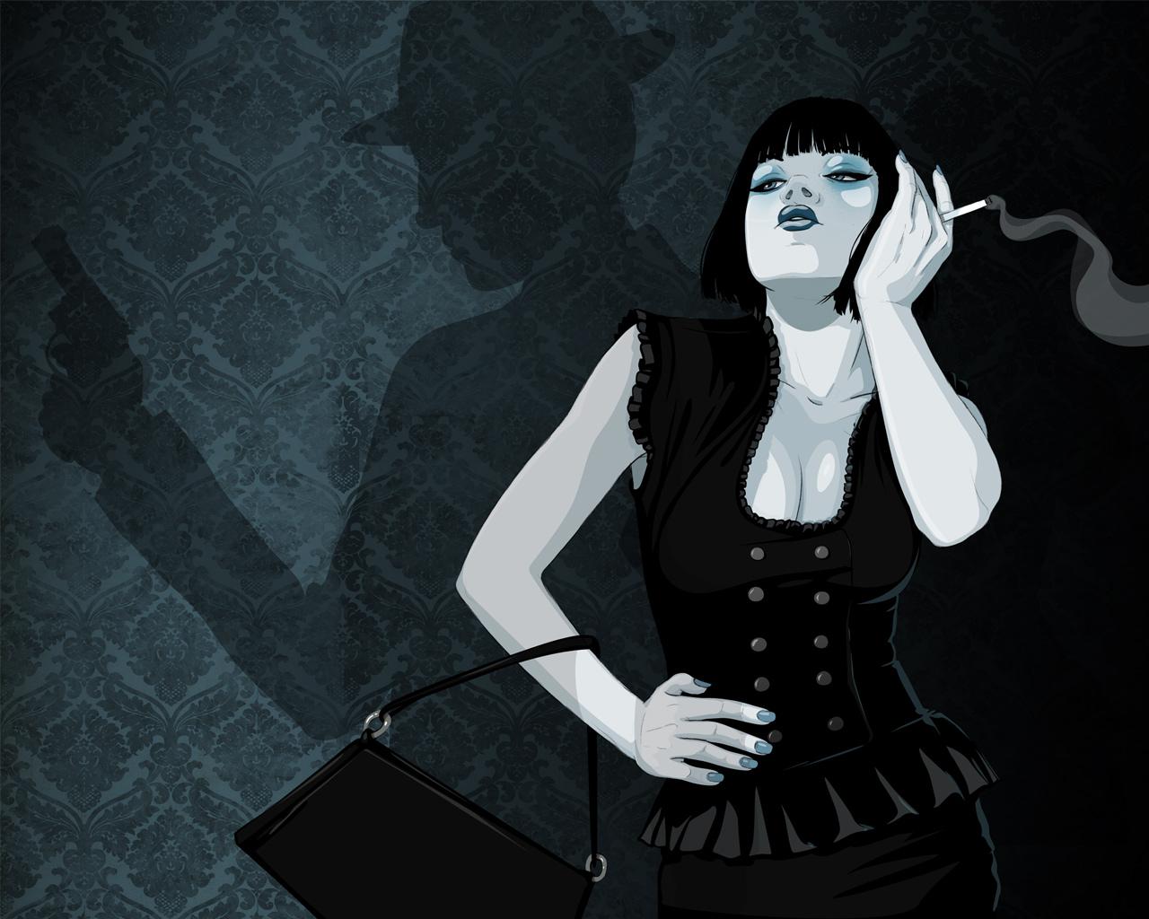 Femme Fatale Desktop by stuntkid