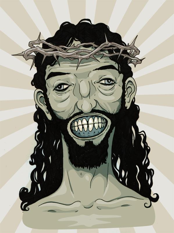 Tutoriais Illustrator 10 Ilustradores que Você Deveria Conhecer Zombie_Jesus_by_stuntkid