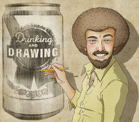 Drinking Drawing Flyer Illo by stuntkid