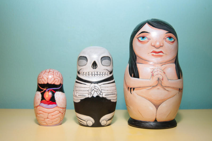 Anatomical Nesting Doll by stuntkid