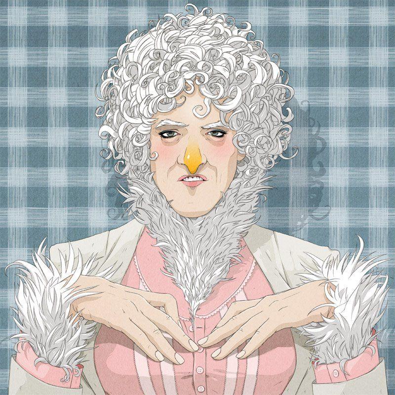 Chicken Lady by stuntkid