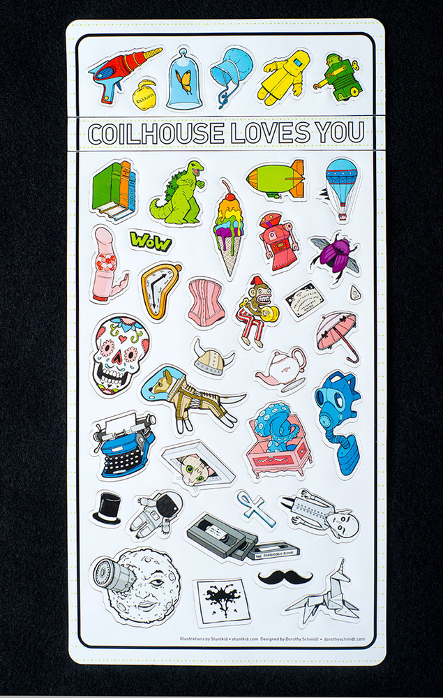 Coilhouse and Stuntkid Stickers and Stationary by stuntkid