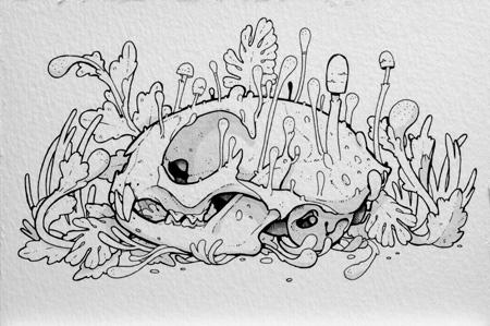 Kitty Skull by stuntkid