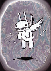 Bunny Angel Monster by stuntkid