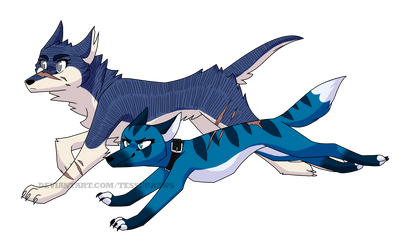 Ginga OCs: 3rd Generation, branch 3 by TessuDraws