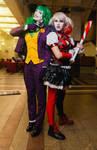 Fem Joker and Harley Quinn cosplay