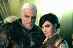 Witcher cosplay. Geralt and Syanna