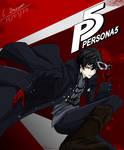 Persona 5 Protagonist fan art