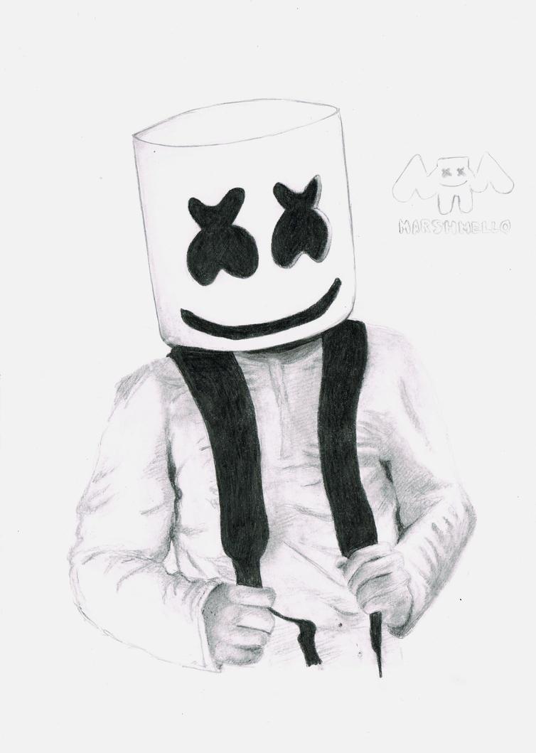Marshmello fan art by WerewolfPoland