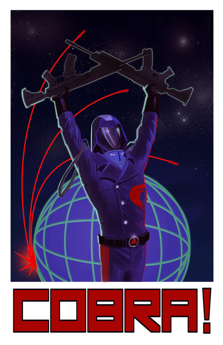 Cobra Commander Propaganda Poster by amherman
