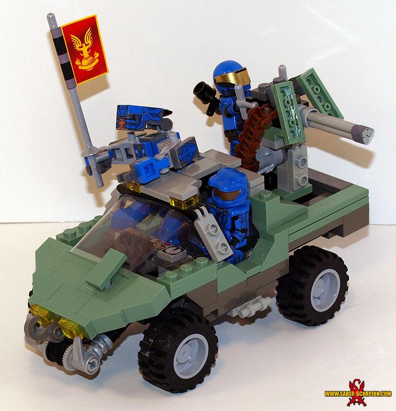 LEGO Halo Warthog by Saber-Scorpion
