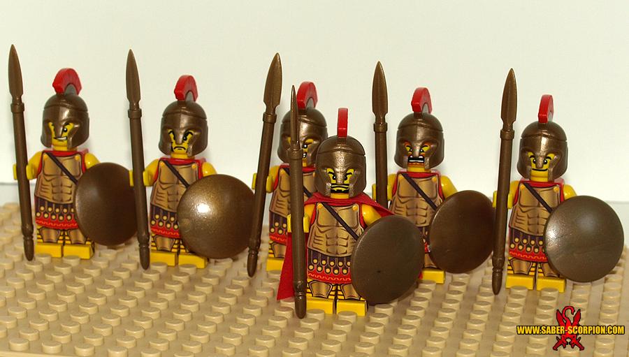 LEGO Spartan Hoplites by Saber-Scorpion