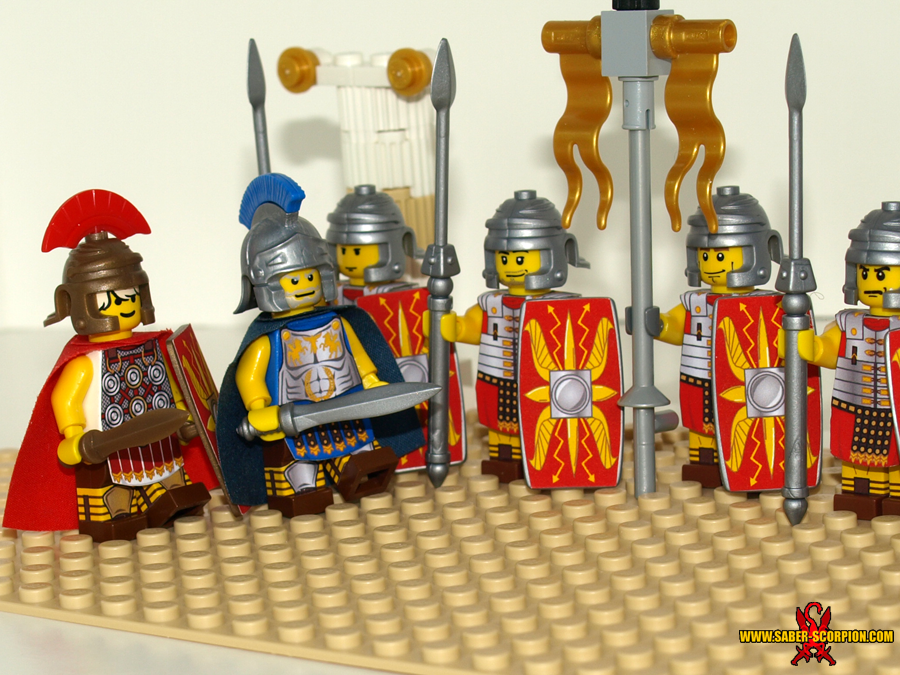LEGO Roman Legionaries by Saber-Scorpion