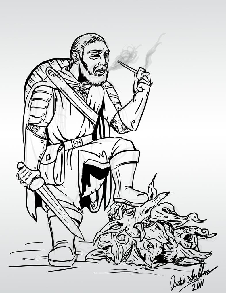 Eogan the Hill Dwarf by Saber-Scorpion