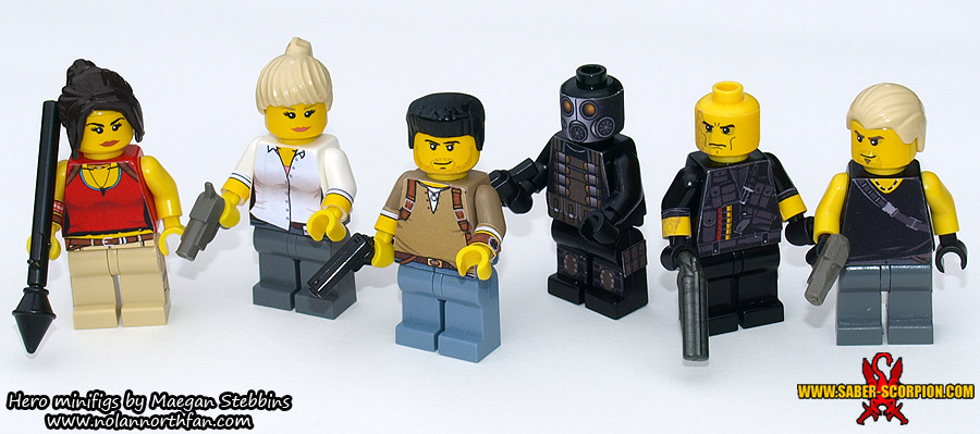 LEGO Uncharted 2 Minifigs by Saber-Scorpion