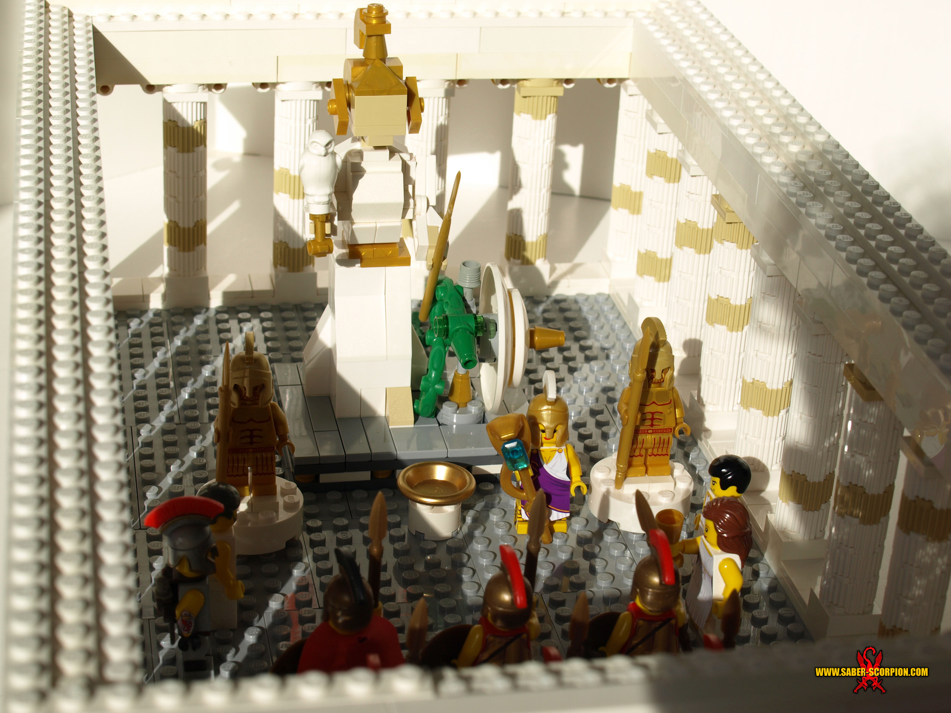 LEGO Temple of Athena 3 by Saber-Scorpion