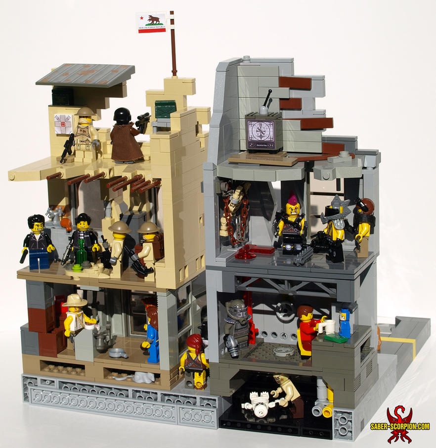 LEGO Fallout Diorama 02 by Saber-Scorpion