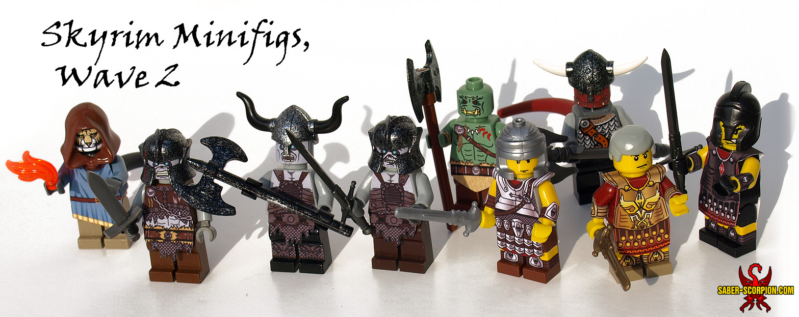LEGO Skyrim Minifigs, set 2 by Saber-Scorpion