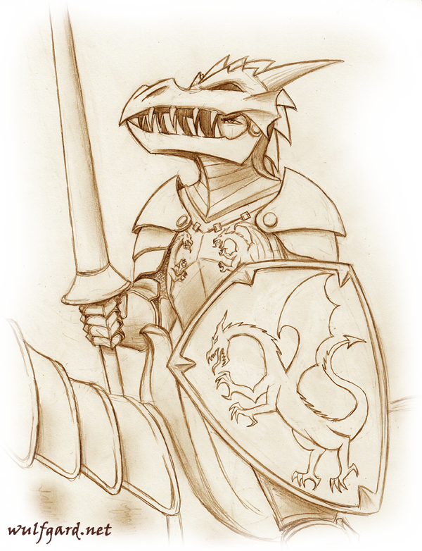 Wulfgard: Dragon Knight by Saber-Scorpion