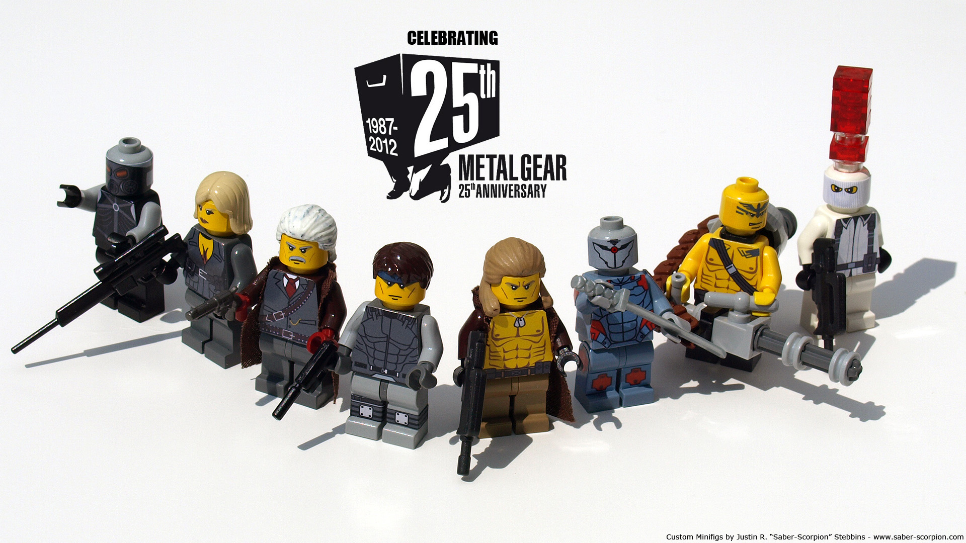 Metal Gear Solid LEGO Minifigs by Saber-Scorpion