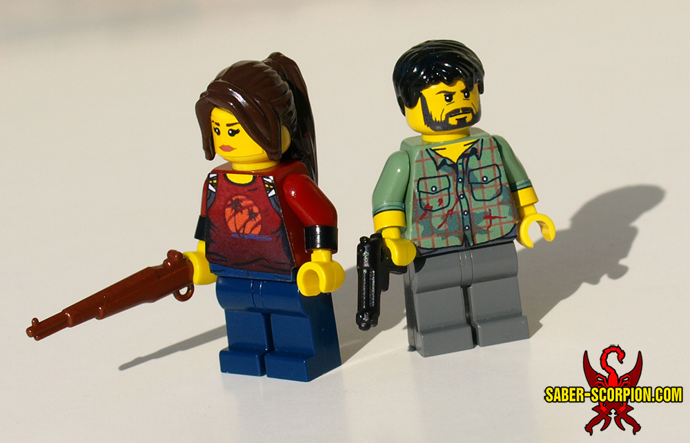 LEGO Last Of Us: Ellie and Joel by Saber-Scorpion
