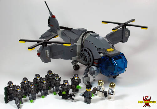 LEGO Fallout: Vertibird and Enclave Soldiers