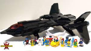 Custom LEGO X-Men and Blackbird