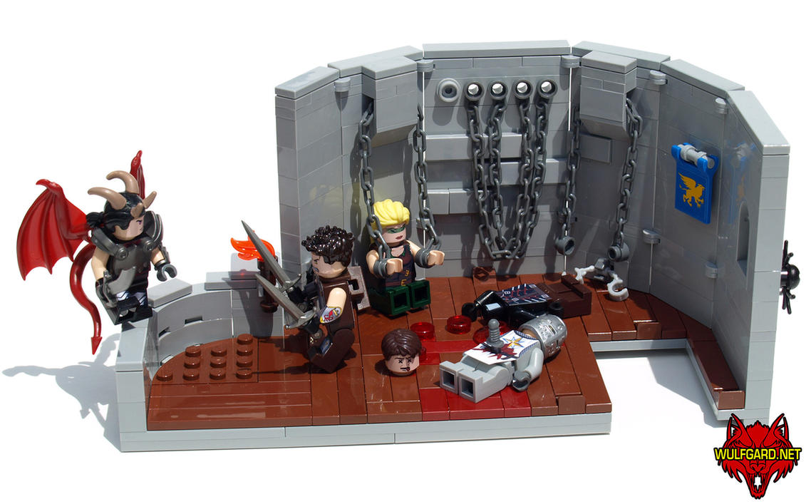 Wulfgard LEGO: Tom vs. Kye in the Tower Dungeon by Saber-Scorpion