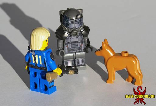 LEGO Fallout 4: Survivor, T60 Power Armor, Dogmeat