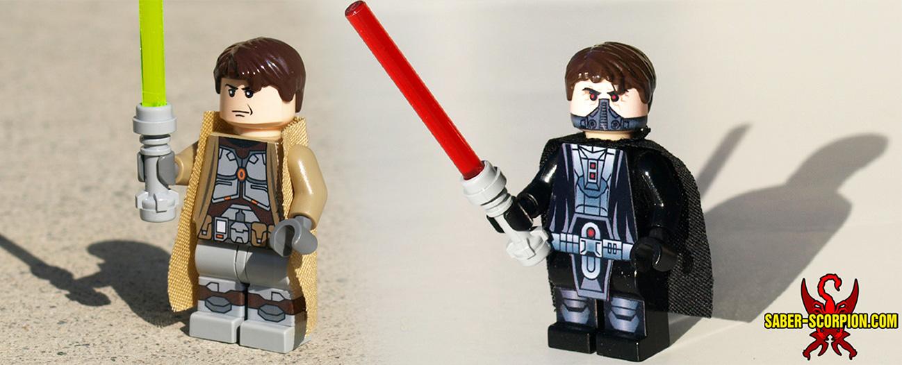 Custom LEGO Minifigs: Light vs. Dark by Saber-Scorpion