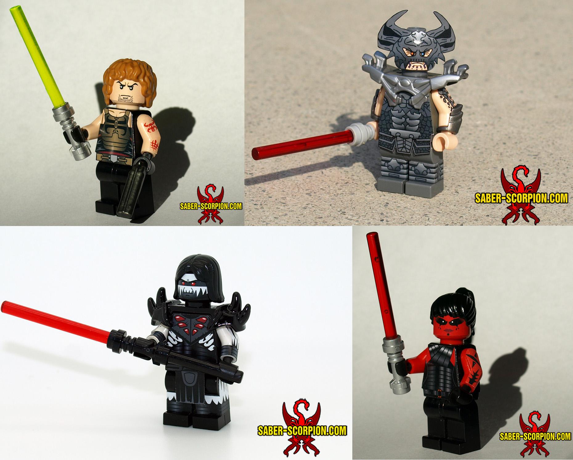 Star Wars: Legacy Custom LEGO Minifigs by Saber-Scorpion