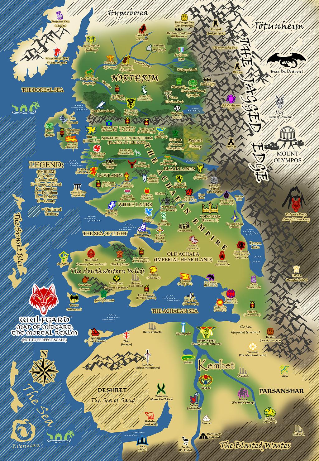 Wulfgard World Map by Saber-Scorpion