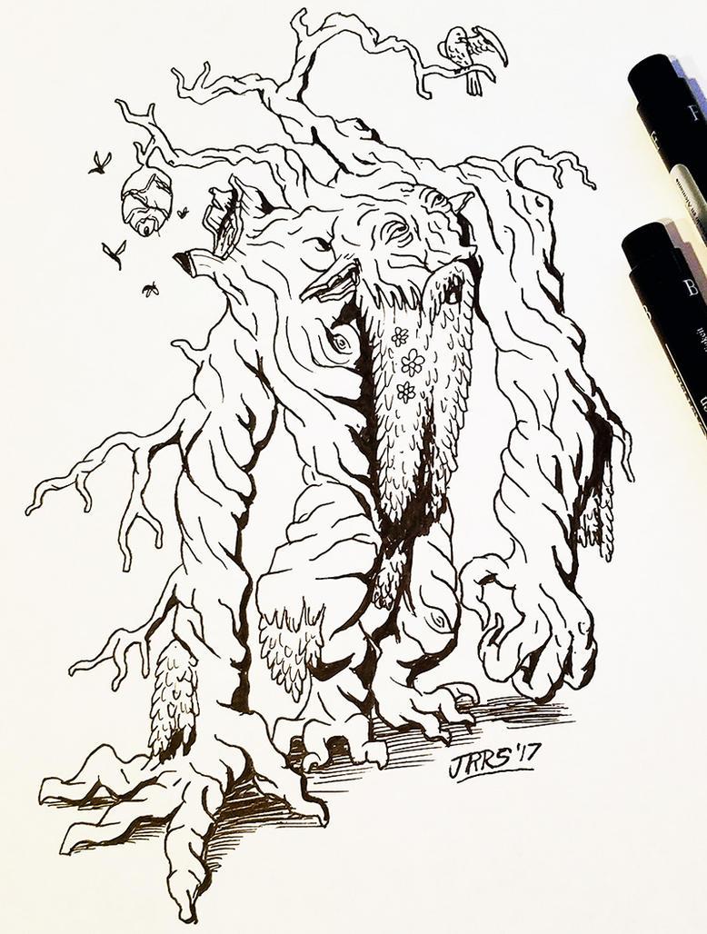 Inktober: Forest Troll by Saber-Scorpion