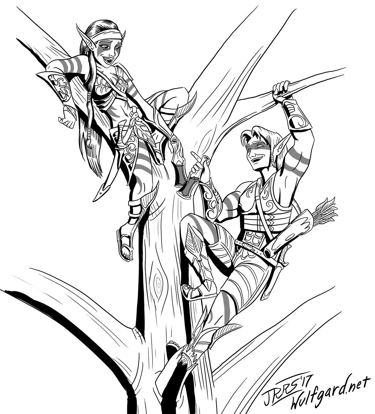 inktober__wood_elves_by_saber_scorpion-d