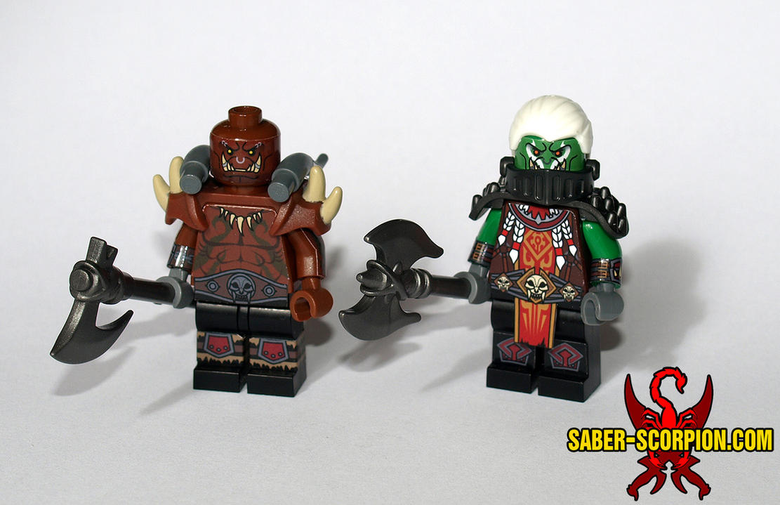 Garrosh and Saurfang, custom LEGO Minifigures by Saber-Scorpion