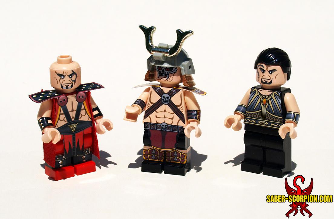 LEGO Mortal Kombat: Daegon, Shao Kahn, and Taven by Saber-Scorpion