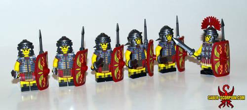 c4b6bf59456 Aquelion 30 3 Custom LEGO Roman Legion Minifigures by Saber-Scorpion