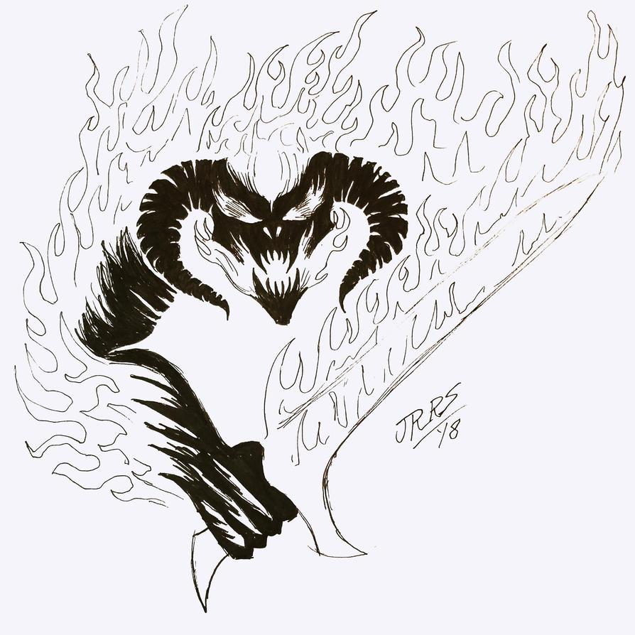 #inktober: A Balrog of Morgoth... by Saber-Scorpion
