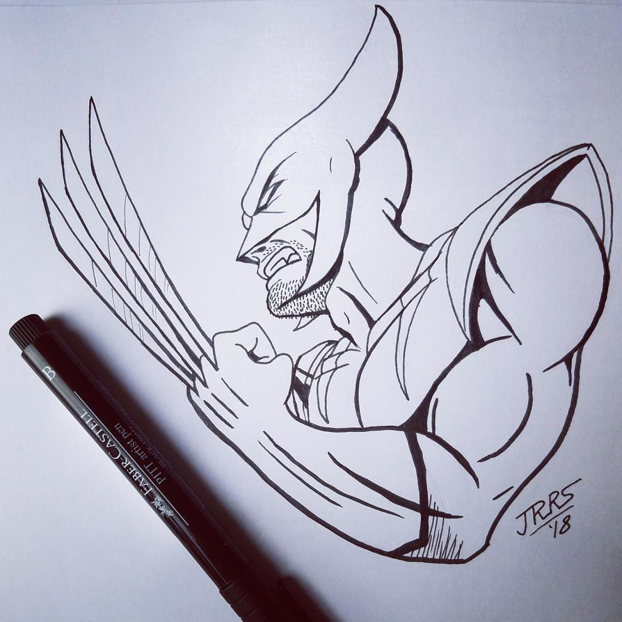 #inktober: The Wolverine by Saber-Scorpion