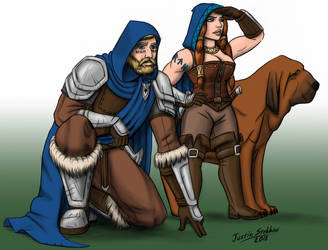 Commission: Agethar, Krilda, and Maugrimm by Saber-Scorpion