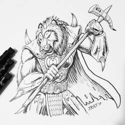 Inktober 2019: Lion Beast-man