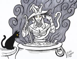 Inktober Halloween: Witchy Daemonique