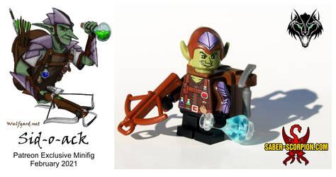 Sid-o-ack the Goblin (February Patreon minifig)