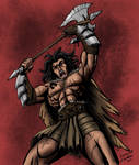 Commission: Barbarian Warrior