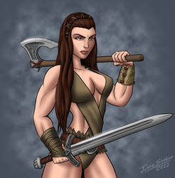 Commission: Barbarian Woman