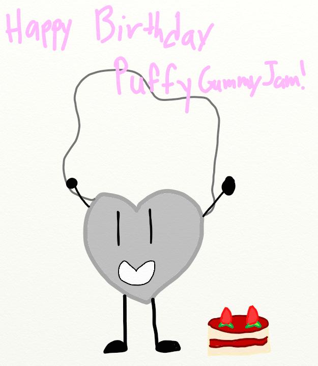 Happy Birthday PuffyGummyJam! by YoshiJr11
