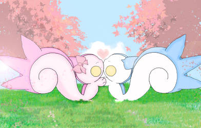 pachirisu a sweet kiss by jirachicute28