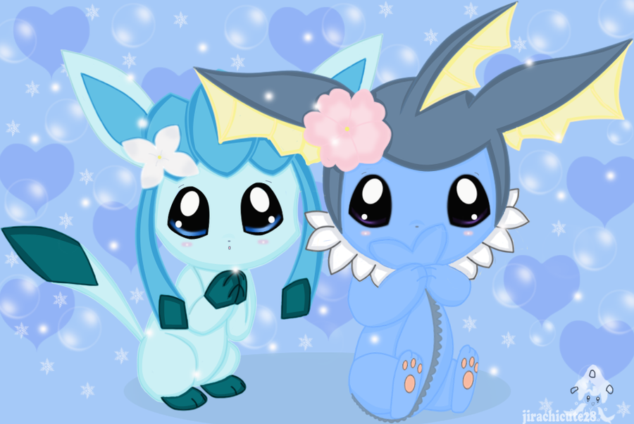 Vaporeon and Sylveon (First Meets Last) by KelseyEdward on ... |Vaporeon And Glaceon Wallpaper